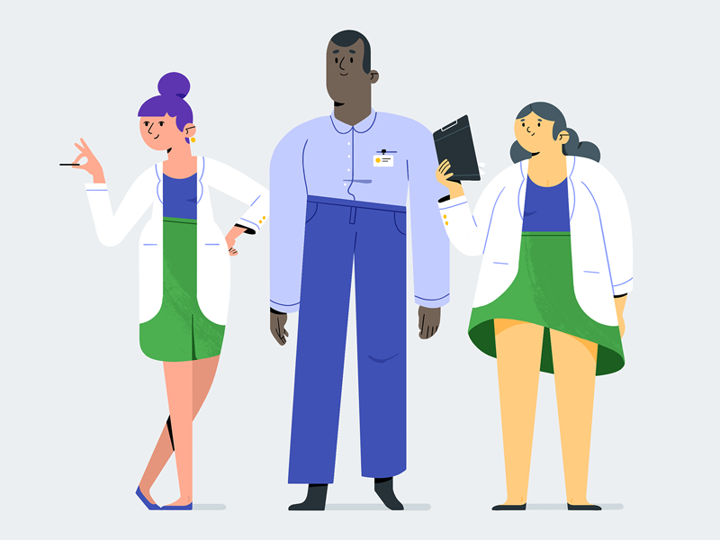 Characters nerds dribbble
