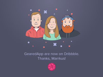 GearedApp are now on Dribbble! welcome team gearedapp first shot