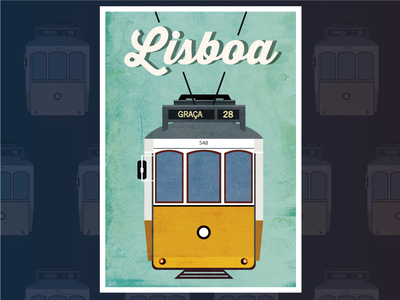 Retro Tram Illusration