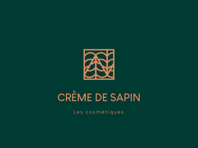 cr me de sapin - logo minimal typography icon design logo branding vector
