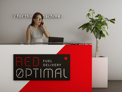 Red Optimal / Front view on the reception desk