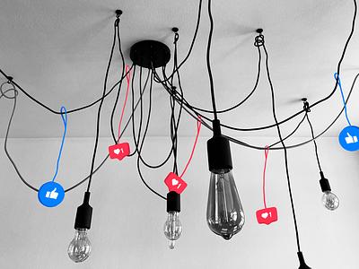 Social media fallillustration digitalart design illustration