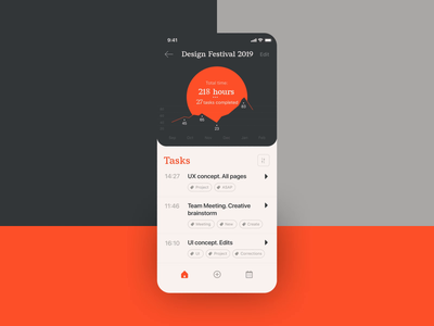 Task Tracker Interactions mobile screens interaction design motion design ui animation mobile application task management task manager time tracker task tracker app design mobile user experience animation interaction design studio interface ui ux graphic design design