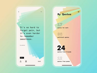 Quotes App UI Design user experience design user interface interaction design mobile screens design agency mobile app design mobile quotes app design fonts typography user experience animation interaction design studio interface ui ux graphic design design