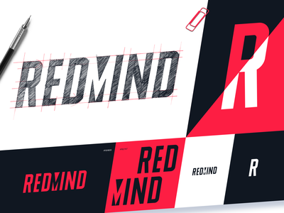 Redmind Logo Design design system company logo web marketing marketing design agency graphic design logo brand design brand identity branding design brand design process wordmark logotype logo design typography branding logo design studio graphic design design