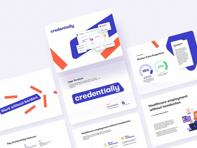 Credentially Brand Style Guide brand style guide creative design design agency doctors brand guide style guide hiring healthcare brand identity identity design identity logo design typography branding logo design studio ui ux graphic design design