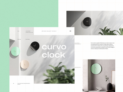 Clock Design Project Webpage minimalist web interface architecture interior design website design clock minimalism interior webpage design website web design user experience web interaction design studio interface ui ux graphic design design