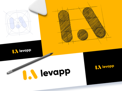 Levapp Logo Design marketing design logo construction identity combination mark web marketing marketing brand branding design brand identity brand design logo designer logo design identity design user experience typography logo branding design studio graphic design design