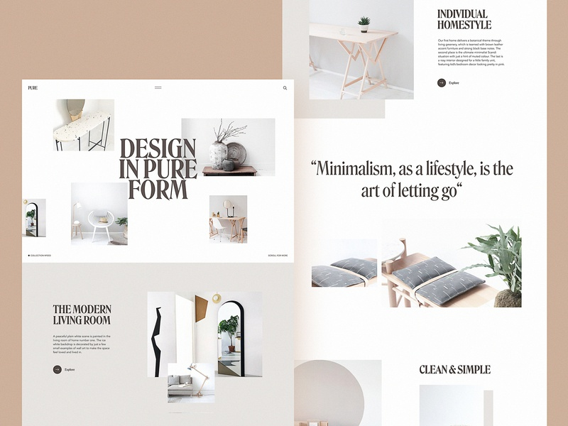 Furniture Ecommerce Website interior design web interface web marketing ecommerce interior furniture website design minimalist minimalism design studio website web design web user experience interface ui ux graphic design design