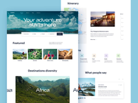 Ecotourism Website Design website design nature world tourism ecotourism environment ecology motion design video user inteface website web design user experience web interaction interface ui ux graphic design design