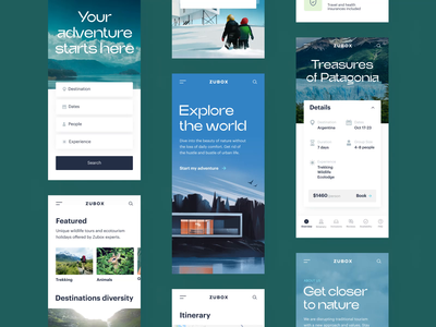 Mobile Website Designs Themes Templates And Downloadable Graphic Elements On Dribbble