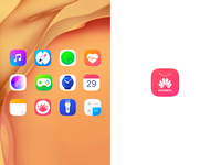 Icons for HUAWEI EMUI 10 mobile interaction mobile design motion design graphics user experience design android app icons icon design icons huawei mobile animation interaction design studio user experience interface ui ux graphic design design