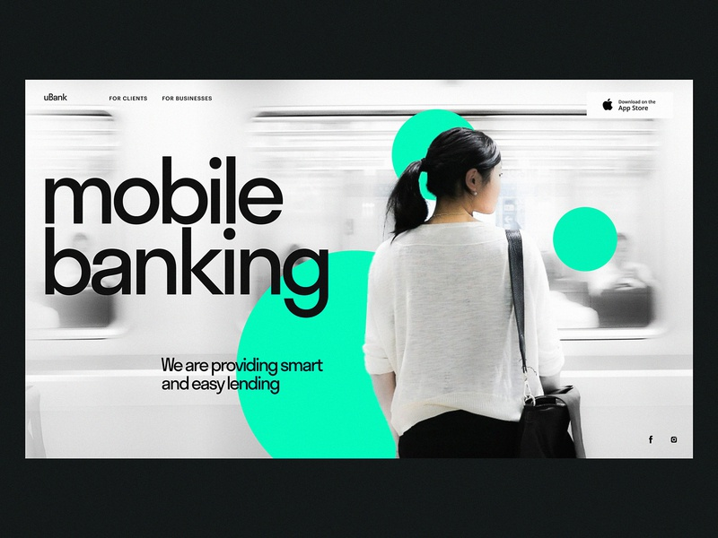 Mobile Banking Landing Page web marketing service design finance minimalism service page banking user interface design landing page design web interface landing page web design web user experience interaction design studio interface ui ux graphic design design