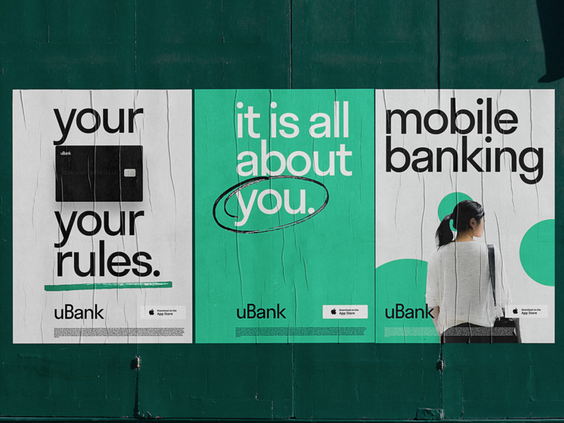 Mobile Banking Service Posters promo banking finance identity design bank advertising marketing promotional design poster user experience design identity typography mobile branding web user experience design studio ux graphic design design