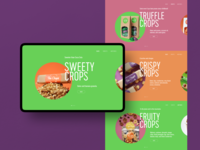 Healthy Snacks Product Slides web interface website snacks product website design web marketing food healthy lifestyle healthy eating healthy food web design web user experience interaction design studio interface ui ux graphic design design
