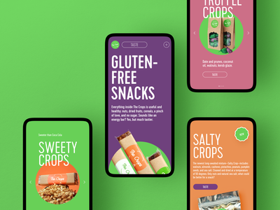 Healthy Snacks Mobile Website promotion healthy lifestyle web marketing ecommerce healthy eating healthy food food website design mobile website web design mobile web user experience interaction design studio interface ui ux graphic design design