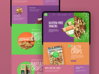 Healthy Snacks Website Design food website design marketing promotion web marketing snacks healthy lifestyle healthy eating healthy food website web design web user experience interaction design studio interface ui ux graphic design design
