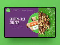 Healthy Snacks Website Interactions healthy lifestyle healthy eating snacks healthy food user interface web design web marketing user experience design scrolling interaction design animation web user experience interaction interface design studio ui ux graphic design design