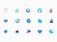 Vertt Mobile Application Icons icon set mobile design app design graphics user experience design icon design service driving ride sharing icons illustration web user experience interaction design studio interface ui ux graphic design design