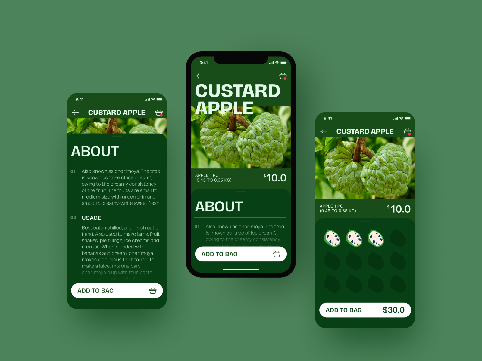 Exotic Fruit Ecommerce Application product screen mobile application mobile ecommerce mobile design mobile app ecommerce exotic fruit app design user interface mobile user experience interaction design studio interface ui ux graphic design design product page