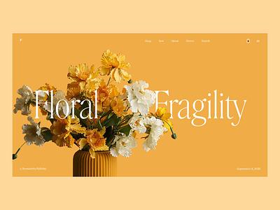 Floral decor ecommerce website tubik studio