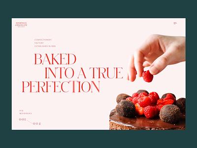 Confectionery Website website design website web marketing ecommerce dessert confectionery sweets chocolate cake animation web design web user experience interaction design studio interface ui ux graphic design design