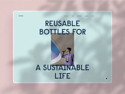Reusable Bottles Web Animation web page home page reusable ecommerce web marketing motion design website design bottle lifestyle web design animation web user experience interaction design studio interface ui ux graphic design design