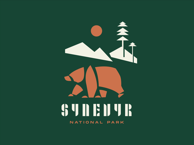 National Park Logo Animation bear logo lettering national park animals identity design branding animated logo logo design nature bear motion design design studio logo animation user experience interaction ui ux graphic design design