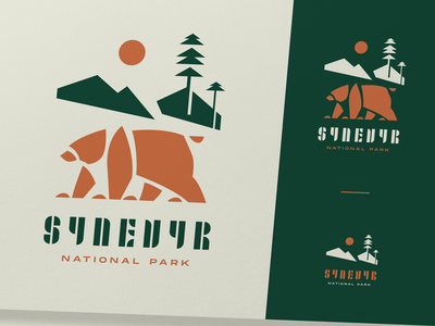 National Park Logo Design brand design animal ukraine environment nature traveling national park bear logo bear identity illustration typography branding logo user experience design studio ui ux graphic design design