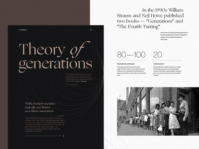 Online Editorial About Generations generations magazine web interface web layout typography web pages editorial design editorial history website design web design web user experience interaction design studio interface ui ux graphic design design