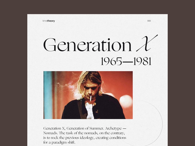 Generations website design tubik studio