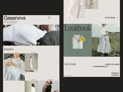 Clothes Brand Website website home page minimalism web layout atelier clothing brand clothes web marketing fashion website design web design web user experience interaction design studio interface ui ux graphic design design