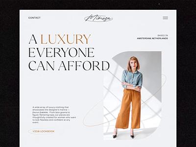 Fashion brand mimosa website tubik studio