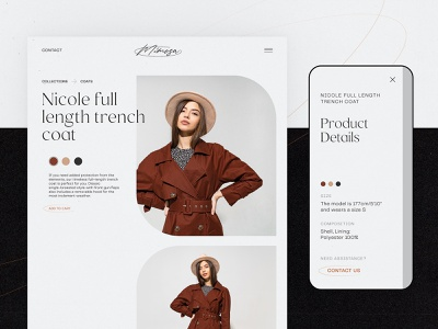 Fashion Ecommerce Product Page web layout website design product product page fashion clothing brand shopping e-commerce ecommerce design ecommerce user interface web design web user experience design studio interface ui ux graphic design design