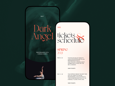 Ballet Company Mobile Website art dance responsive design responsive website mobile website mobile design mobile ballet ux design ui design web design web user experience interaction design studio interface ui ux graphic design design