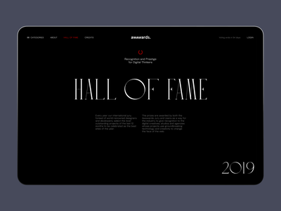 Annual Awwwards 2020: Hall of Fame designers awards ux design user experience design web page web layout hall of fame awwwards website website design web design web user experience interaction design studio interface ui ux graphic design design