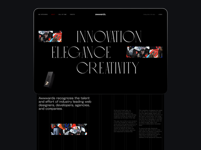 Annual Awwwards 2020: Hall of Fame web layout typography grid layout grid design grid community designers awards awwwards website design web design web user experience interaction interface design studio ui ux graphic design design