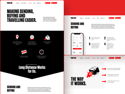 Landing Page for Pass On App contrast delivery app landing page landing page design landing pages user interface design web layout landing page website design website web design web user experience interaction design studio interface ui ux graphic design design