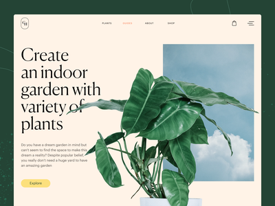 Gardening Company Website: Guides Page web layout nature green gardening plant webpage website design web marketing company website website web design web user experience interaction design studio interface ui ux graphic design design