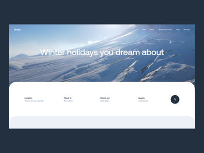 Winter Holidays Booking Website website design website home page design winter traveling booking website booking mountains video home page web design web interaction user experience design studio interface ui ux graphic design design