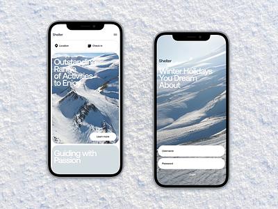 Winter holiday mobile website tubik design