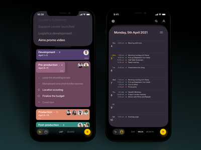 Task Manager App Design utilities app design mobile application mobile design mobile app mobile ui task management task manager to do app calendar user interface mobile user experience interaction design studio interface ui ux graphic design design