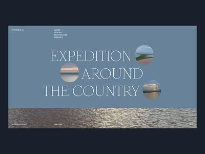 Expedition website design tubik