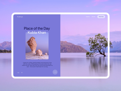 Booking Website: Places of the Day transitions web page design hero section motion design destinations traveling website design website booking travel web design web user experience interaction design studio interface ui ux graphic design design