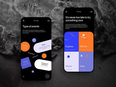 Booking Service Mobile Website web design web user experience interaction design studio interface ui ux graphic design design