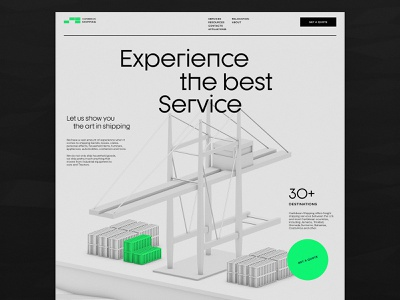 Website for Shipping Company 3d illustration website service distribution delivery shipping web marketing company website user interface user experience web page website design web design interaction design studio interface ui ux graphic design design
