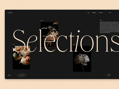 Art Blog Selection Page user experience user interface web page web layout dark theme art photography blog page blog design blog web design website web interaction design studio interface ui ux graphic design design