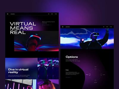 VR Rooms Website virtual reality webdesign web interface ui ux graphic design design