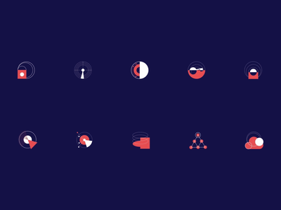 Animated Icons for Synthesized Website web design icon web marketing user experience design data visualization website icons icon pack motion design motion graphics animation icon design icons illustration interaction design studio interface ui ux graphic design design