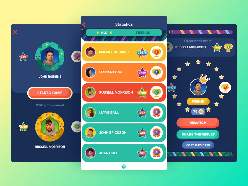 Snake Battle App design agency graphic design illustration icons design interface bright game app design ux ui